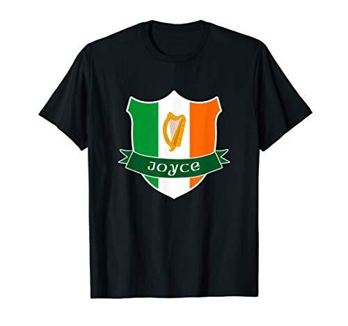 Joyce Irish Name Ireland Flag Harp Family T-Shirt
