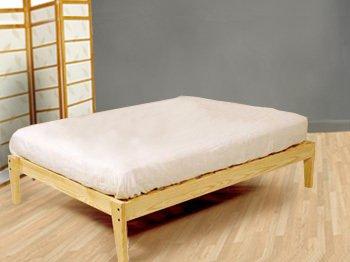 Solid Wood Platform Bed Frame - Natural Color (King)