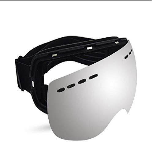 Peanutaoc - Gafas de snowboard antivaho con lentes espejadas para hombres y mujeres jóvenes para patinar en motos de nieve
