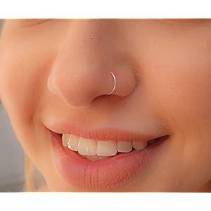Tiny Silver Nose Ring hoop – 24 gauge snug Nose Hoop thin nose Piercings hoops – nose piercing rings