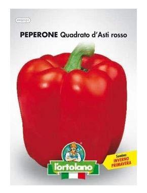 Sementi orticole di qualità l'ortolano in busta termosaldata (160 varietà) (PEPERONE QUADRATO D'ASTI ROSSO)