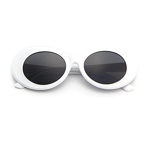 Gafas de sol de montura gruesa ovaladas Retro de verano a la moda para mujer, gafas de protección UV para mujeres, hombres, ni?as y ni?os