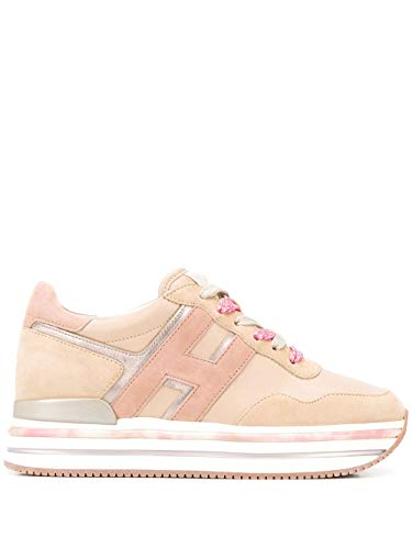 Luxury Fashion | Hogan Dames HXW5150CB81I6V0QQR Beige Suôde Sneakers | Lente-zomer 20