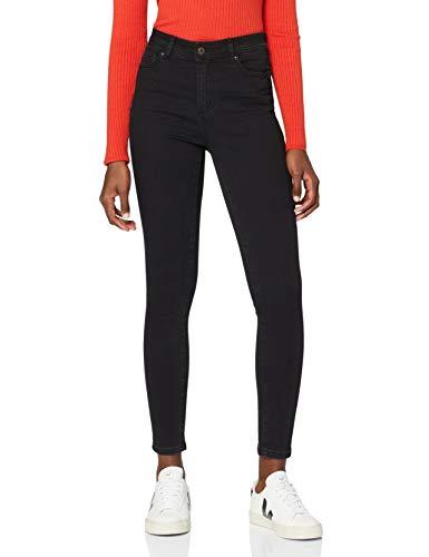 Amazon-Marke: find. Damen Skinny Jeans mit mittlerem Bund, Schwarz (Black),Small