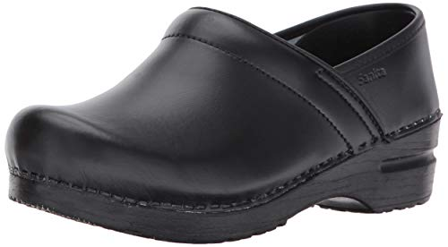 Sanita Women#039s Professional PU Leather Clogs Black