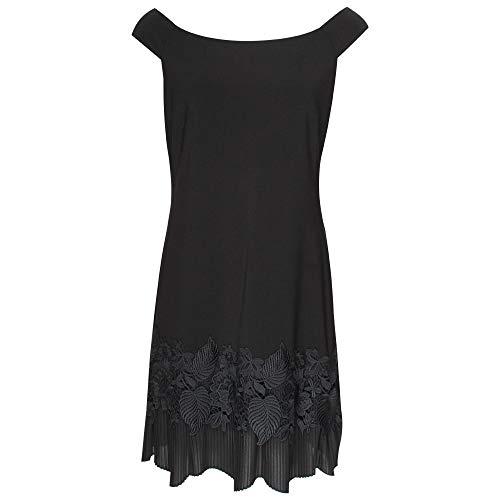 Frank Lyman Off Shoulder Black Eveing Dress 14 UK Black