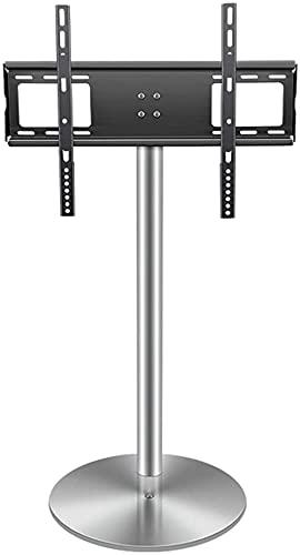 GDEVNSL Soporte de TV Mejorado Soporte de TV de Piso Soporte de TV Universal con Base Redonda de Acero Inoxidable Base giratoria de Soporte de TV Soporte de TV Ajustable en Altura para
