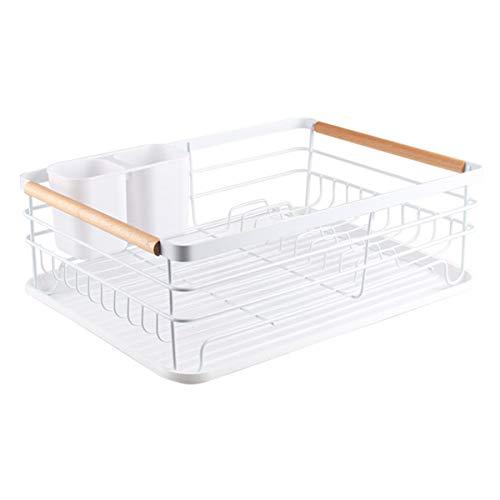 Feibrand Egouttoir a Vaisselle Egoutoire Vaisselles Cuisine avec Plastique Plateau Sechoir Metal Etendoir Rack