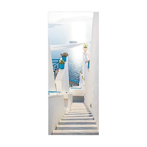 ZDDBD Türtapete Selbstklebend Türposter 3D Bewirken Fototapete Türfolie Poster Tapete Abnehmbar Wandtapete Für Wohnzimmer Küche Schlafzimmer 90X200Cm ( Meerwasser )