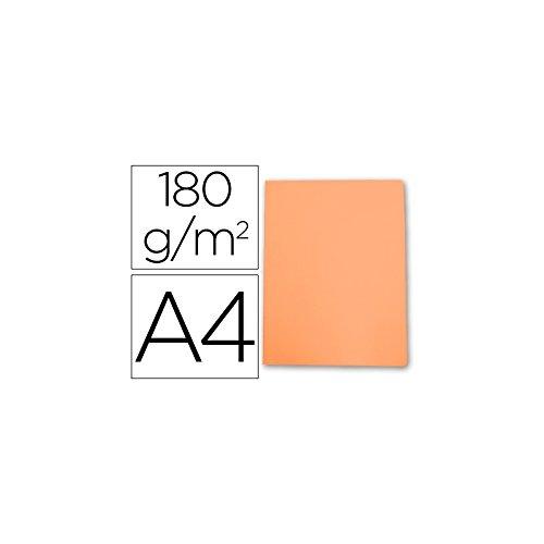 Elba Gio - Pack de 50 subcarpetas simples, A4, color naranja