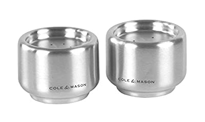 Cole & Mason Exbury Stainless Steel Salt and Pepper Shaker Set, 8 cm by DKB Household UK Ltd