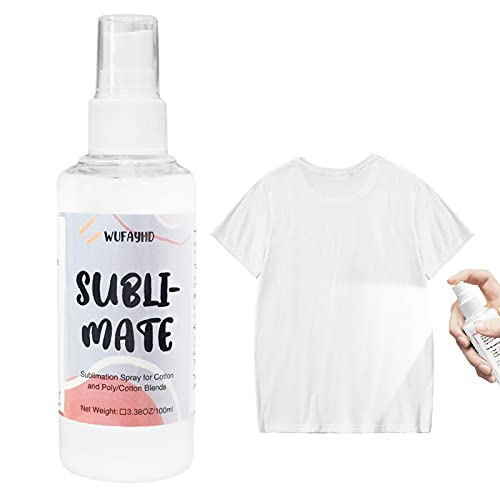 WUFAYHD Sublimation Coating Spray for Carton Polyester Fabric,Carton, Canvas, Tote Bag, Magic Prep Sublimation Fluid Spray Coating with, Waterproof & Super Adhesion - 3.38Oz