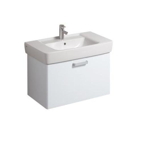 Keramag Waschbeckenunterschrank Renova Nr.1 Plan, 879090 78x44,5cm x46,3cm Weiß Hochglanz 879090000