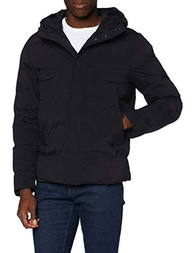 Tommy Hilfiger Men's Hooded Stretch Bomber Jacket, Black, M
