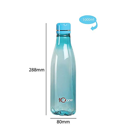 Cello H2O Ozone Plastic(PET) Water Bottle, 1000ml, Set of 3, Assorted