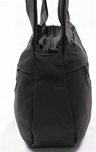Fin Stores Leather Hobo Bag (Black)