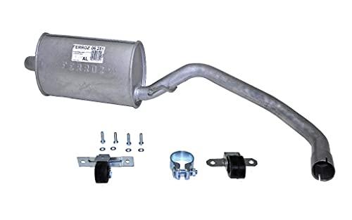 Ferroz Export Ersatz für VW Lupo 6X 1.416V 1998- Endschalldämpfer Auspuff Schrägheck Endtopf+Anbaukit