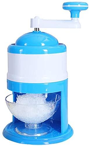 Tritaghiaccio - Blu tritaghiaccio manuale con manovella portatile e tazza, adatto per Ghiaccio a casa Cono di Neve frullato Blocco di Ghiaccio Che Fa Macchina