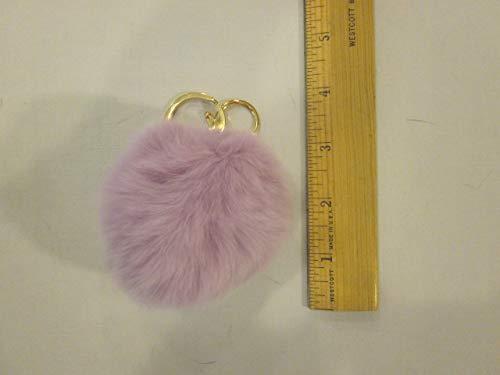 real FUR keychain purse charm - fur ball keychain - RABBIT fur keychain - RABBIT fur fir keychain - 3' fur ball - lavender