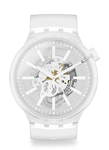 Swatch SO27E106 Armband-Uhr Big Bold Whiteinjelly Analog Quarz