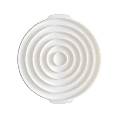 Fusanadarn Voedsel- Grade Siliconen Cake Mousse Mould Cake Baking Cake Decor Mold,White,5 Stuks