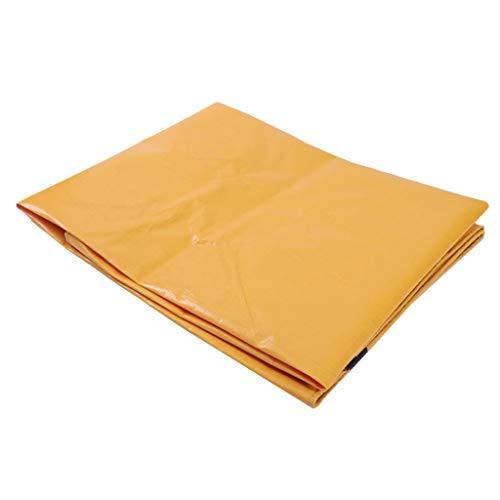 TONG YUE SHOP Toile extérieure Anti-Pluie imperméable et Anti-Pluie de Toile de bâche PE Jaune Jaune Deux Couleurs pour bâche de Protection (Size : 3.8x3.8 Meters)