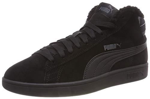 PUMA Unisex-Erwachsene Smash v2 Mid WTR Sneaker, Black Black, 42.5 EU