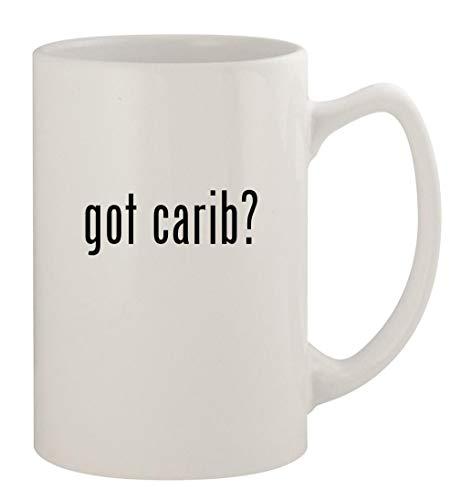 got carib? - 14oz Ceramic White Statesman Coffee Mug, White