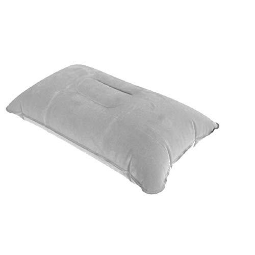 WEARRR 5 Colores Almohadas portátiles Inflable Viaje Air Cushion Doble Cara Cojín Campamento Campamento Coche Hotel Reposar Dormir (Color : Gray, Size : 38x25cm)