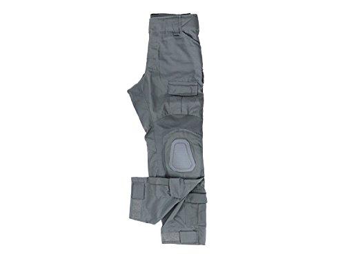 Invader Gear Predator Combat Hose, mit 10 Taschen & Knieschonern - Wolf Grau/grau, Größe:S