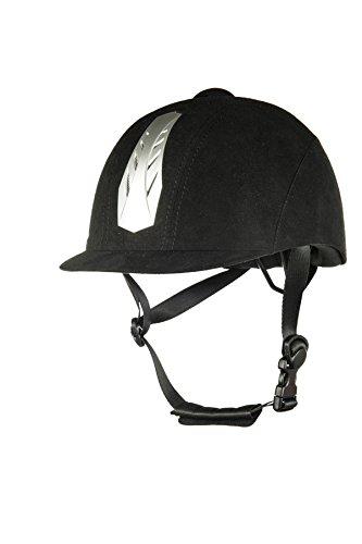 HKM Erwachsene Reithelm -New Air Stripe- mit Einstellrad9100 schwarz56-58 cm Hose, 9100 schwarz, 56-58 cm