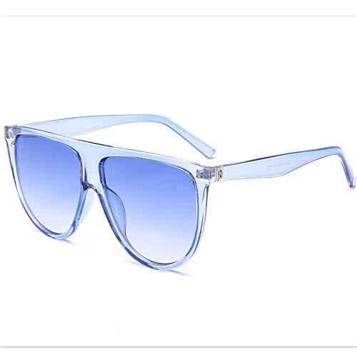 Gafas De Sol Nuevas Gafas De Sol De Moda para Mujer, Vintage Retro, Parte Superior Plana, Gafas De Sol De Gran Tamaño, Piloto Cuadrado, Diseñador De Lujo, Grandes Tonos Negros, Azul