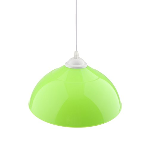 Baoblaze Semi-circolare Plafoniera Paralume Copertura Lampada Shade Cover Adatto per Corridoio, Cucina, Ristorante - 110-220V - Verde
