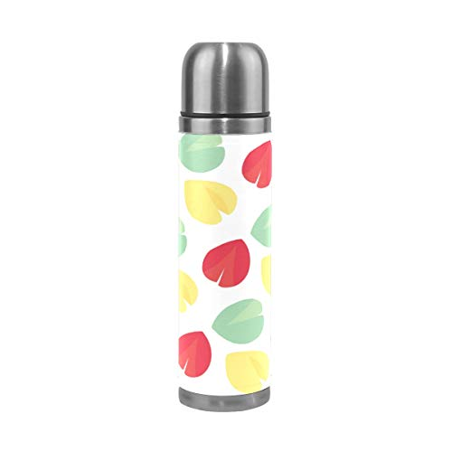 Double Wall Vacuum Insulated Stainless Steel Thermos Bottle Sports Coffee Travel Mug Gifts Drink Cup 500ml,Fortune Cookie Pattern Stainless Steel Water Bottle