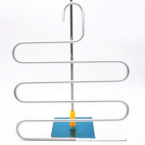 En Alliage D'aluminium Hanger, Multi-fonction Magique S-Type Pantalon Multi-couches Rack, Pantalon Hanging Hanger, Armoire Étagère De Rangement, Pantalon Hanger Pantalons Clip