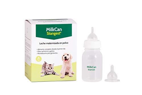Strangest Leche Polvo MilkCan y Biberon   Leche Maternizada para Gatos y Perros   Leche en Polvo   Complemento de Lactancia   Biberón Mascotas   400 g