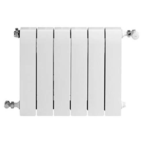 Baxi Radiador de aluminio de alta emisión térmica Batería, 6 elementos, serie Dubal 80, 8,2 x 48 x 77,1 centímetros (Referencia: 194A35601), blanco