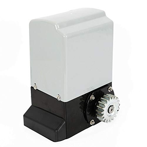 Motorización para puerta corredera, 370 W, abrepuertas automático, con 2 mandos incluidos, motor de puertas eléctricas con capacidad de carga máxima de 600 kg
