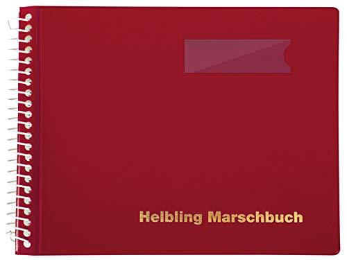 Helbling BMR20 Marschbuch (Notenbuch mit 20 blendfreien Klarsichthüllen, Umschlag aus flexiblem Kunststoff, bruchsichere Spiralbindung, wetterfest, Querformat: 18 x 14 cm) rot