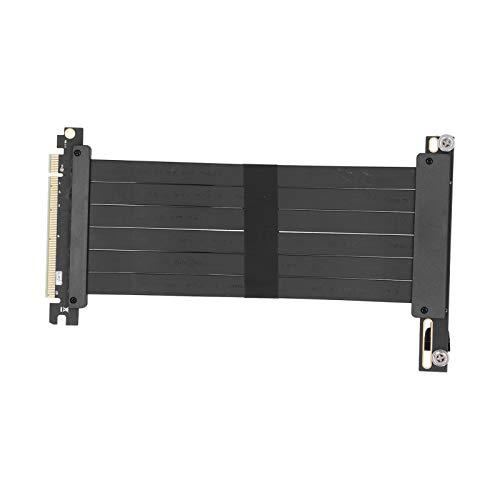 PUSOKEI Tarjetas gráficas Tarjeta de extensión PCI-E 3.0 x16 128Gbp / s Cable de extensión de Ancho de Banda con imán de 20 cm para GTX1080 / GTX1080Ti / RTX2060 / RTX2070 / RTX2080