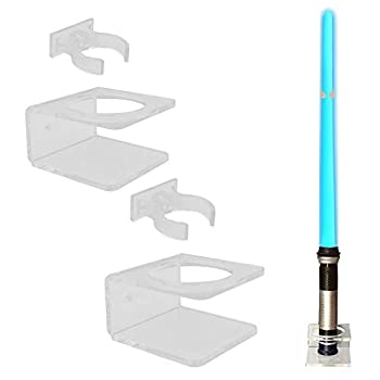 YYST Clear Light Saber Wall Mount Wall Rack Wall Holder - 2 Pack