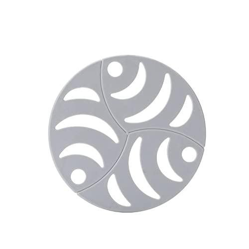 CNYG Posavasos antideslizantes resistentes al calor decorativos para el hogar, posavasos redondos para cuencos, tazas, vasos, vasos y regalos para amigo, azul claro 16 cm