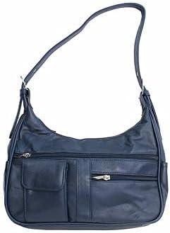 Fin Stores Soft Genuine Leather Shoulder Bag (Blue)