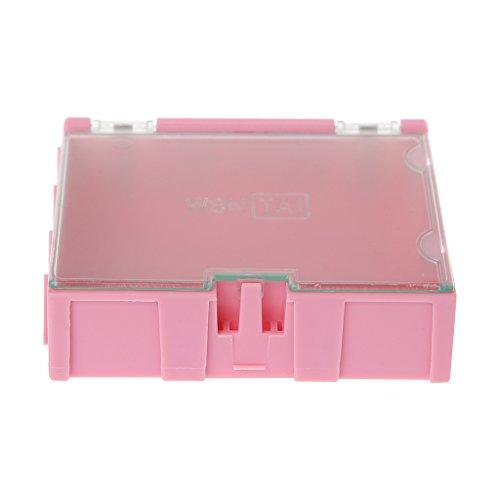 YO-HAPPY Almacenamiento de componentes, Mini SMD SMT Caja electrónica IC Componentes electrónicos Cajas de Almacenamiento 75x63x21mm