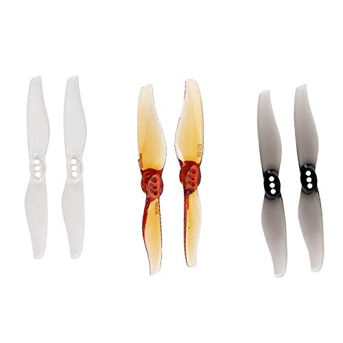 Hongyi Propeller 4/8 Pairs Hurricane 3018 3x1.8 3 Inch 2-Blade Propeller for RC Drone Quadcopter FPV Racing DIY accessoires Reserve Onderdelen drone Accessoires (Color : 4 Pairs Whisky)