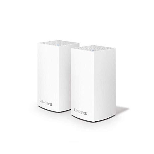 Linksys Système Wi-Fi Mesh Multiroom Velop VLP0102 (Routeur Wi-Fi AC2400 / Extension Wi-Fi, Contrôle Parental, pack de 2, Portée de Signal jusqu'à 260 m2, Blanc)