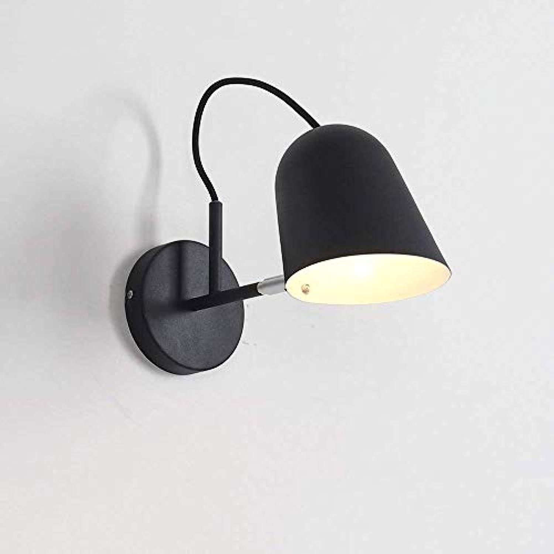 Moderne Europische Wandleuchte Lampe Kreative Farbige Farbe Wandleuchte Wandlampen Für Wohnzimmer Schlafzimmer Treppe Gang Nachttisch Hintergrund Wandleuchten E27 (Farbe   schwarz)