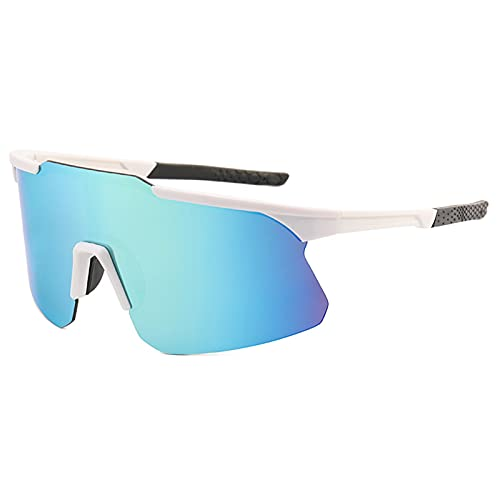 Funming Gafas de sol rectangulares para hombre, lente de PC, cierre suave, ultraligeras para conducción al aire libre