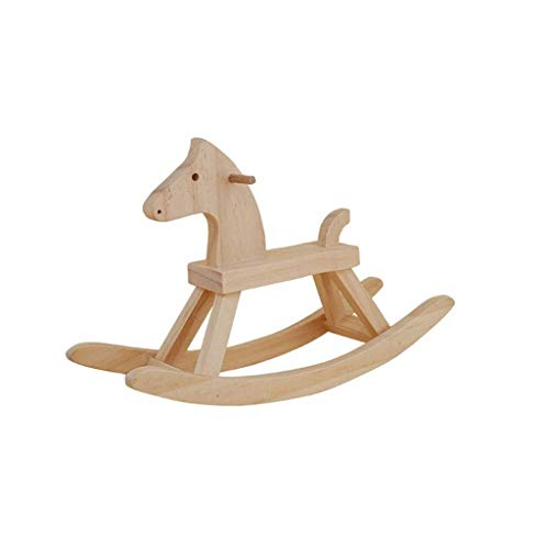 JWDYA Wooden Rocking Horse Suitable for 1-5 Year Old Children Rocking Chair Toys Indoor and Outdoor Animal Small Toys
