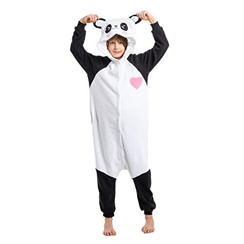 Spooktacular Creations Unisex Child Pajama Plush Onesie One Piece Panda Animal Costume (Small) White